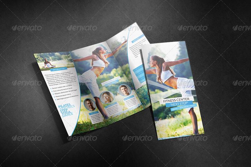 light corporate yoga tri fold brochure