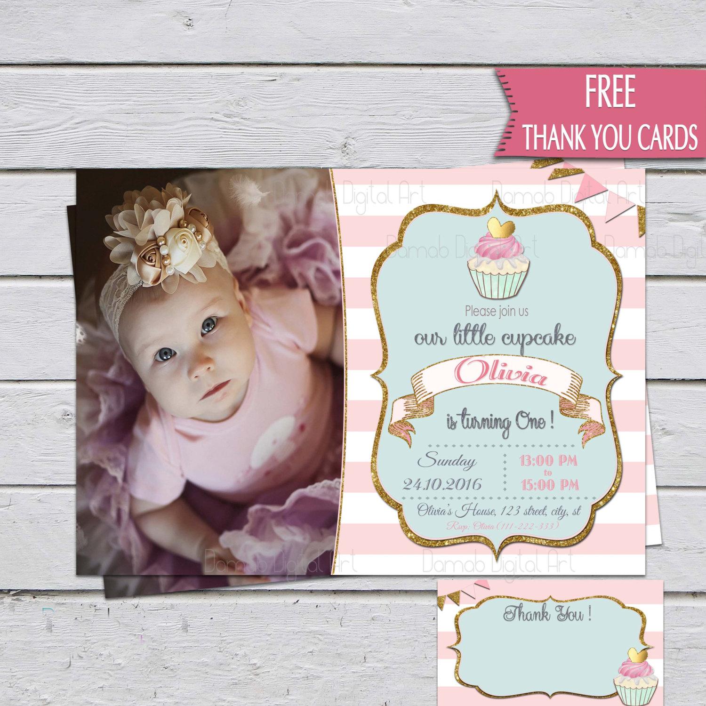 little cupcake invitation