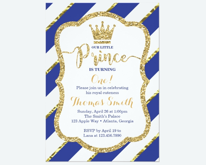 little prince birthday invitation