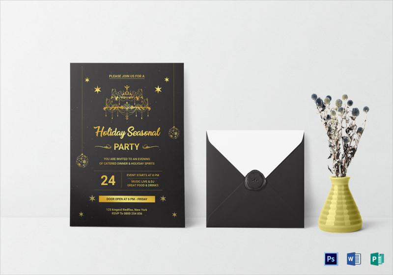 lovely holiday party invitation