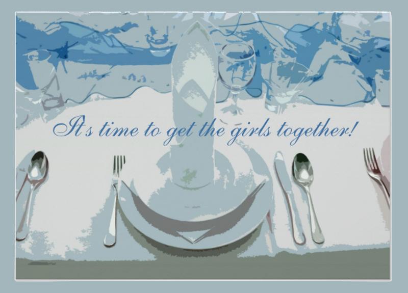 luncheon setting invitation