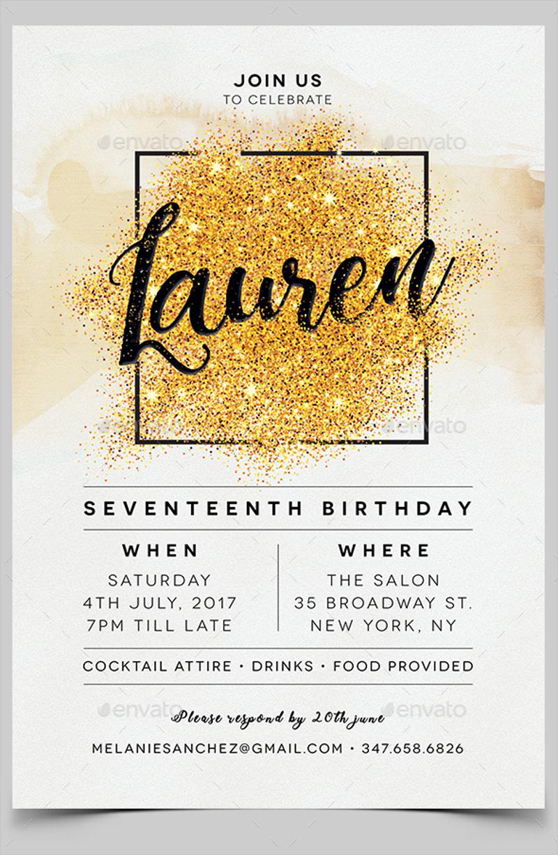 luxury adult party invitation