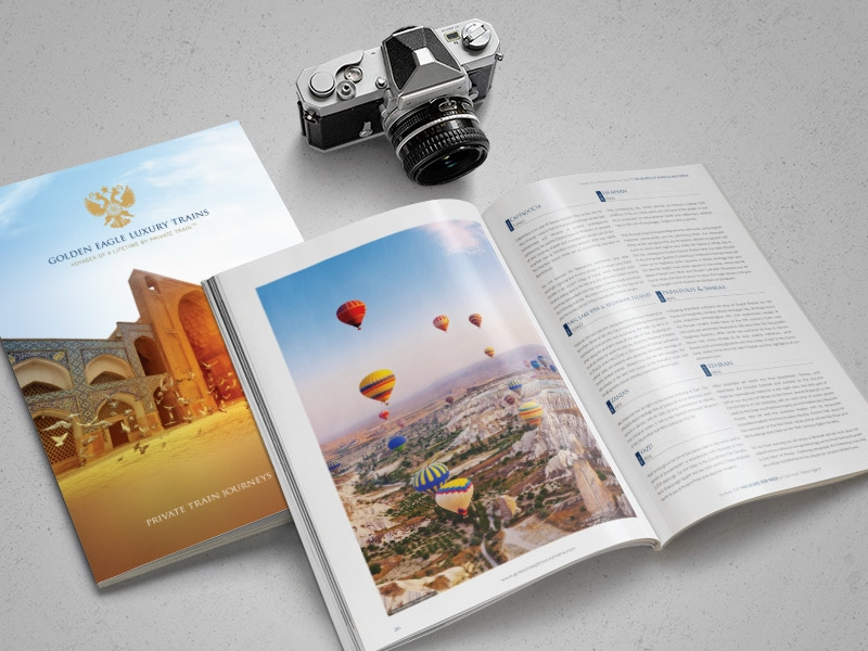 luxury holiday brochure design