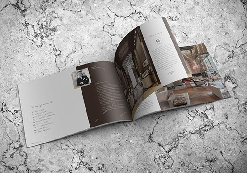 luxury hotel landscape brochure