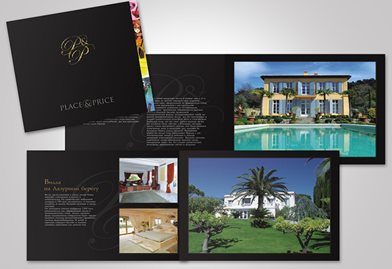 luxury real estate agency brochure