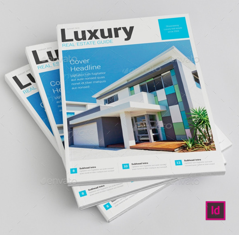 luxury real estate brochure design