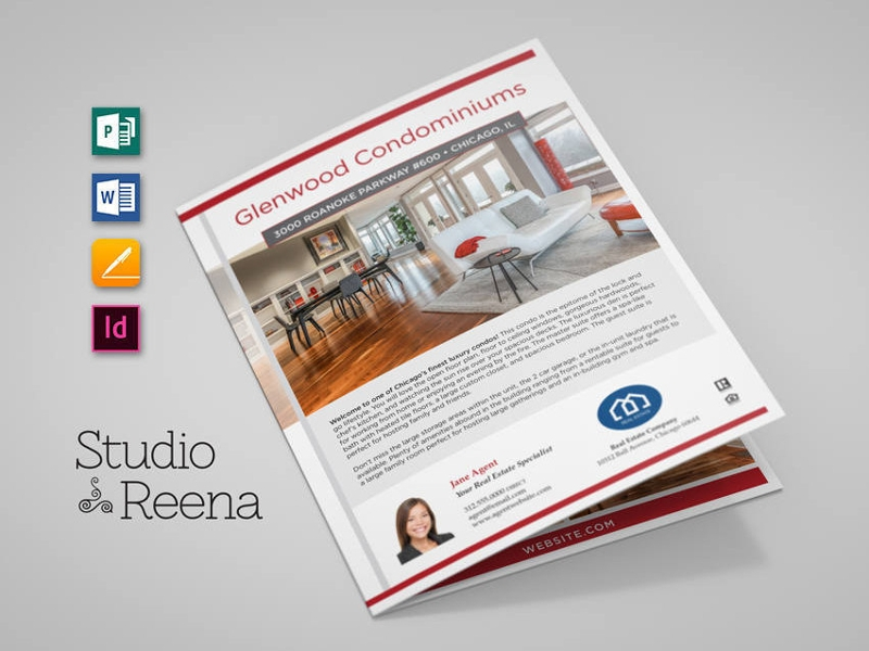 luxury real estate brochure design template