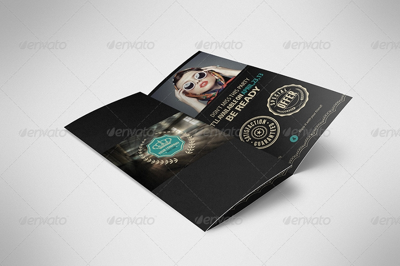 luxury retro brochure tri fold