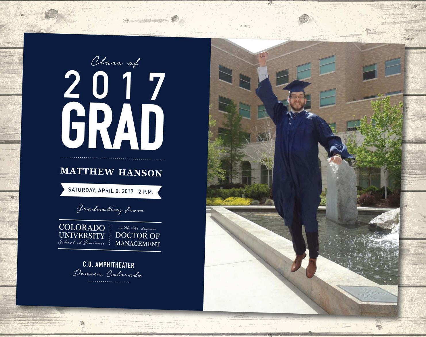 male graduation ceremony invitation