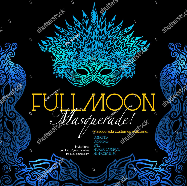 masquerade ball party invitation