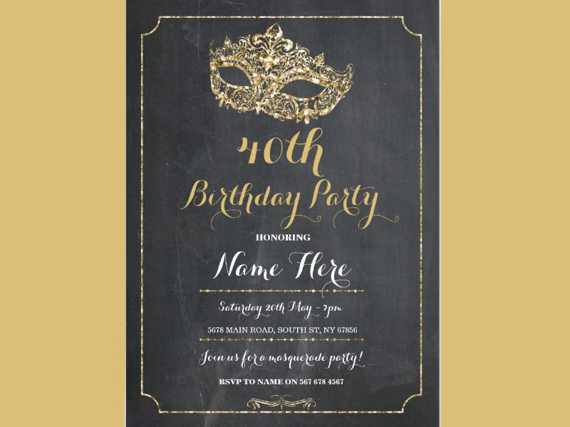 masquerade birthday party invitation1