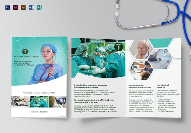 medical bi fold brochure template