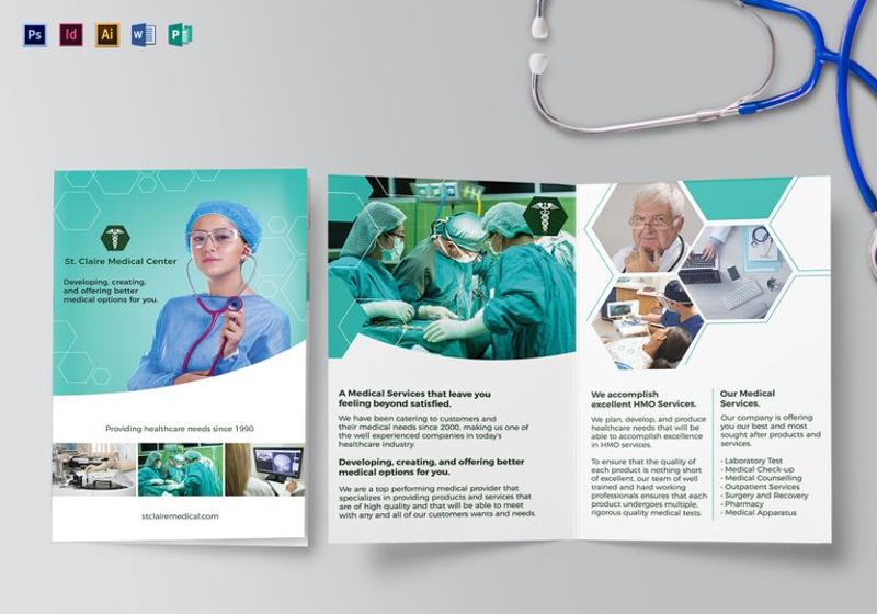 medical bi fold brochure template1