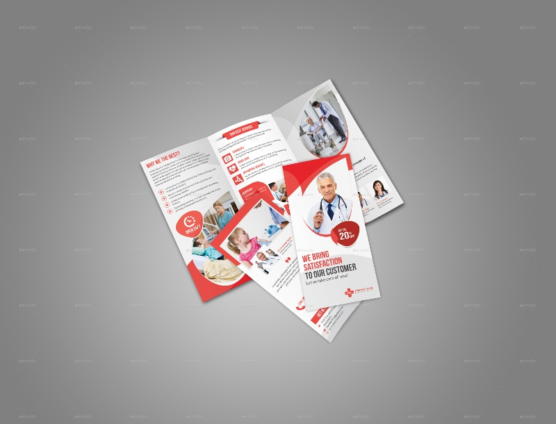 medical brochure design template