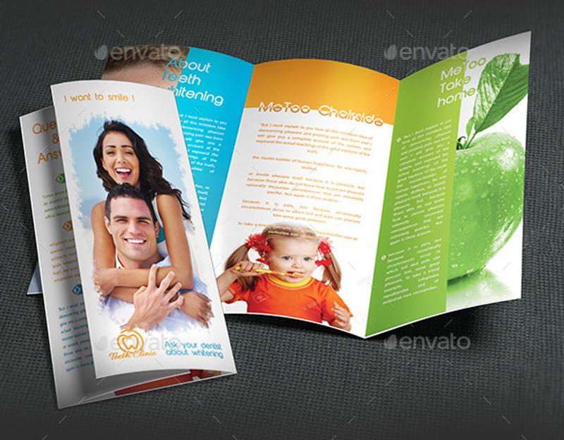 medical dental trifold brochure template