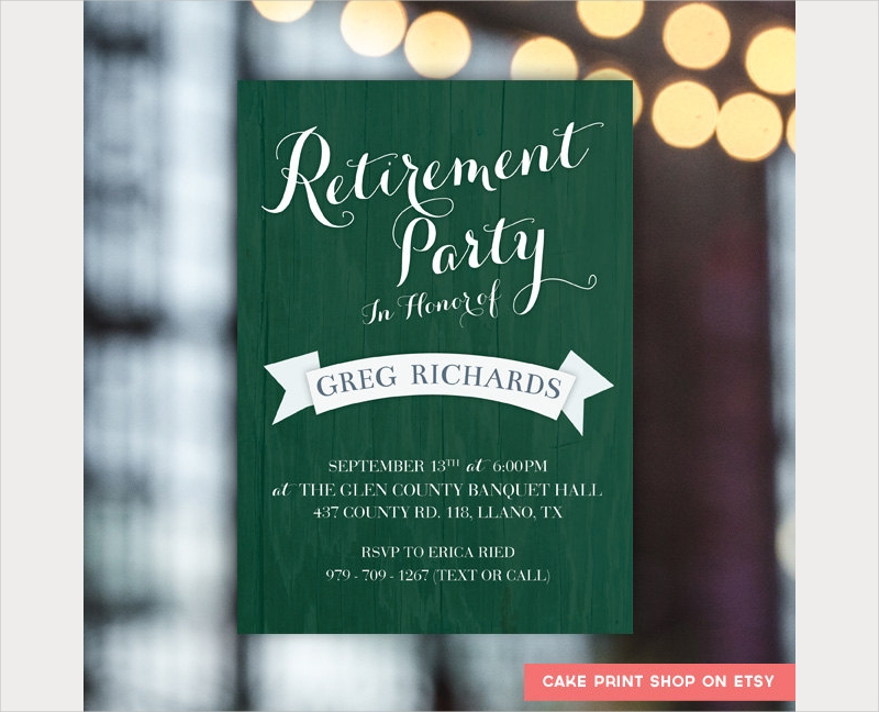 mens retirement party invitation
