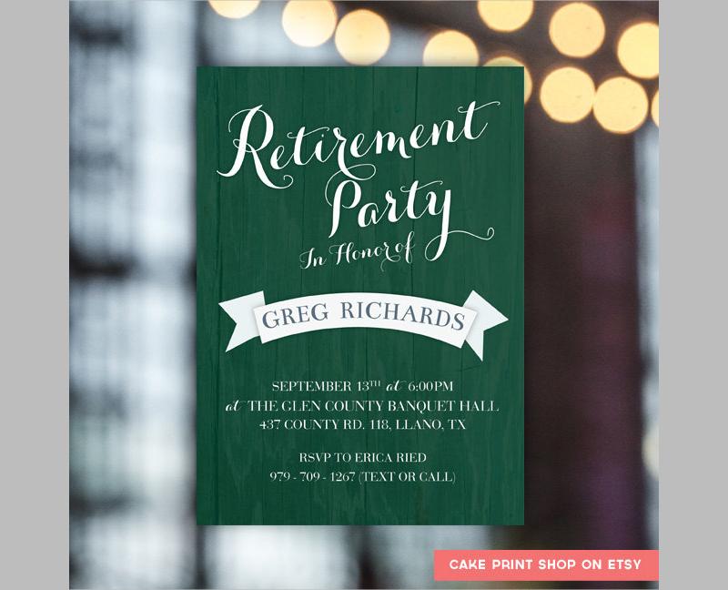 mens retirement party invite
