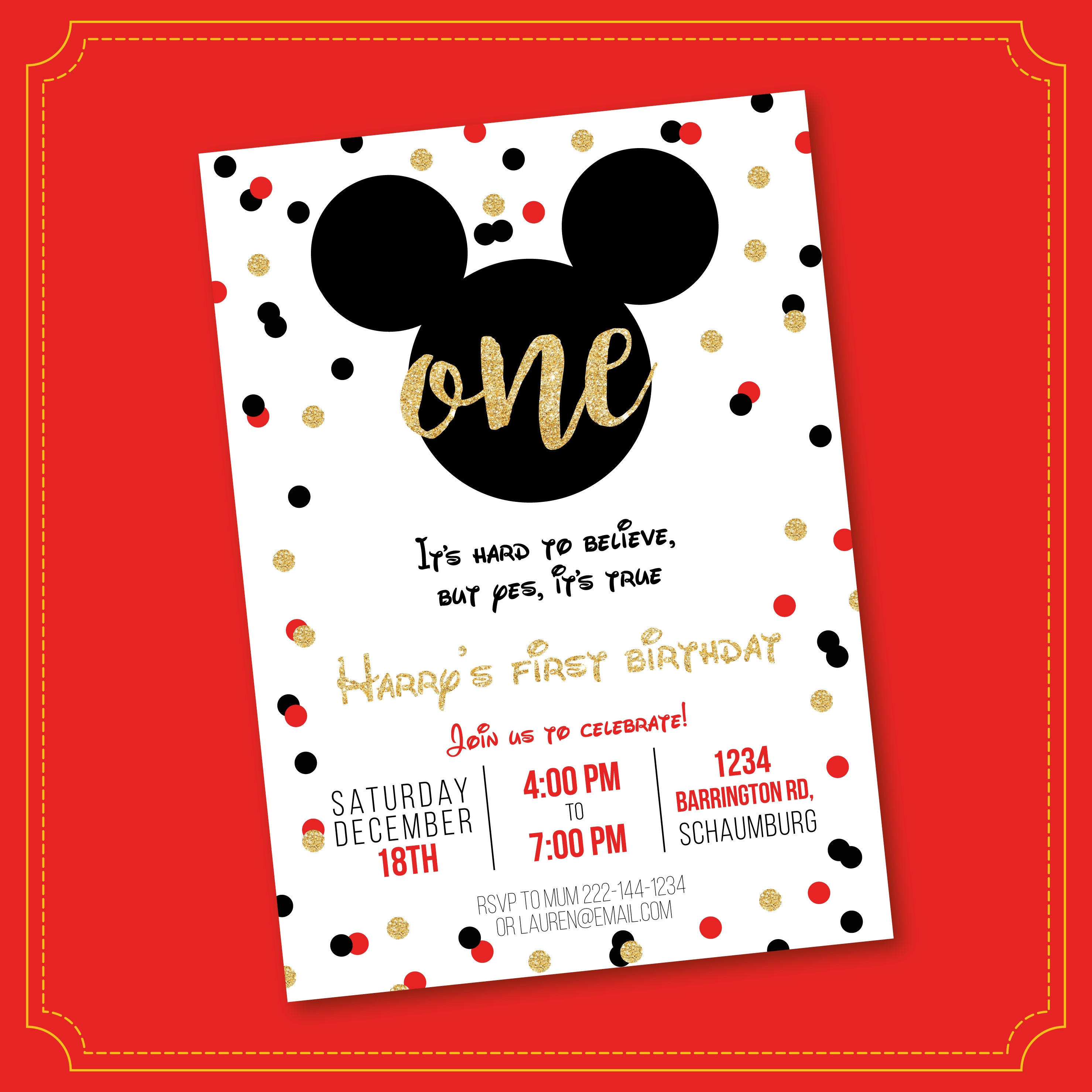 mickey mouse clubhouse invitation