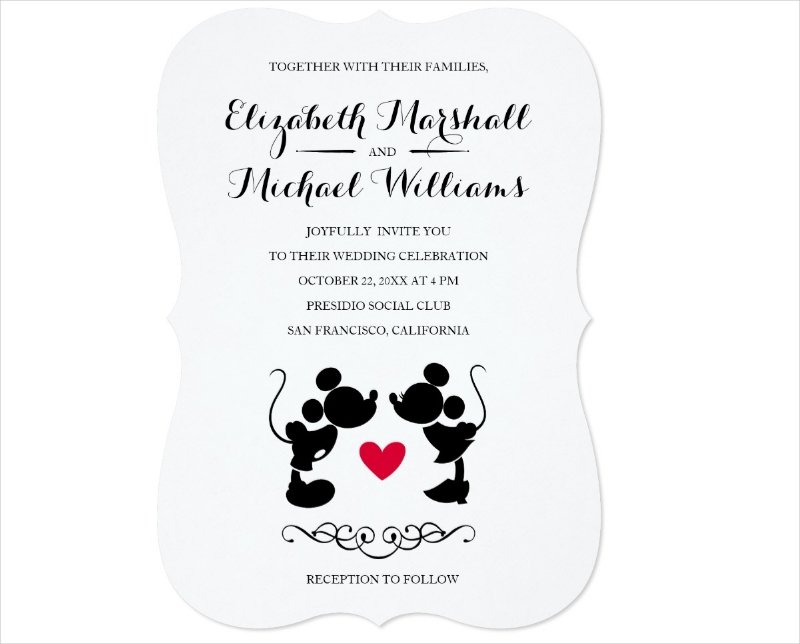 mickey wedding invitation