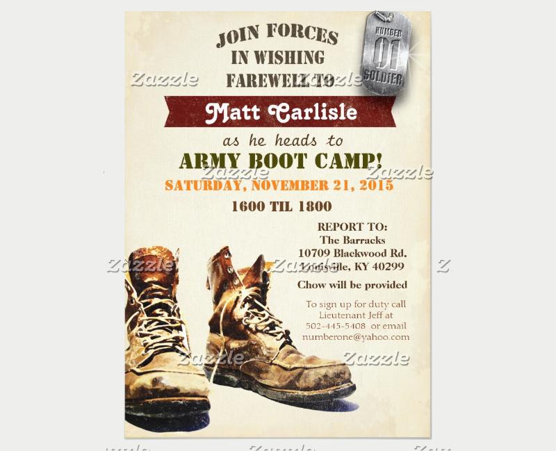 military farewell camp invitation