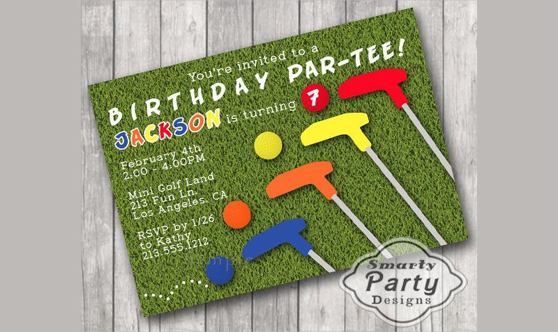 mini golf birthday party invite invitation1