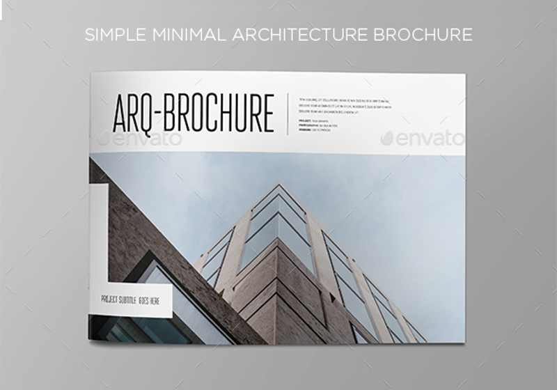 minimal architecture brochure