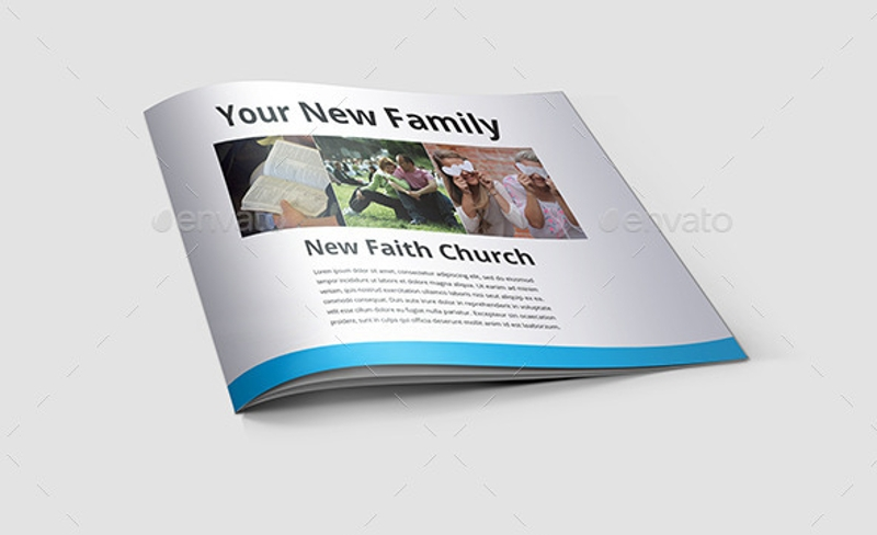 minimal church brochure