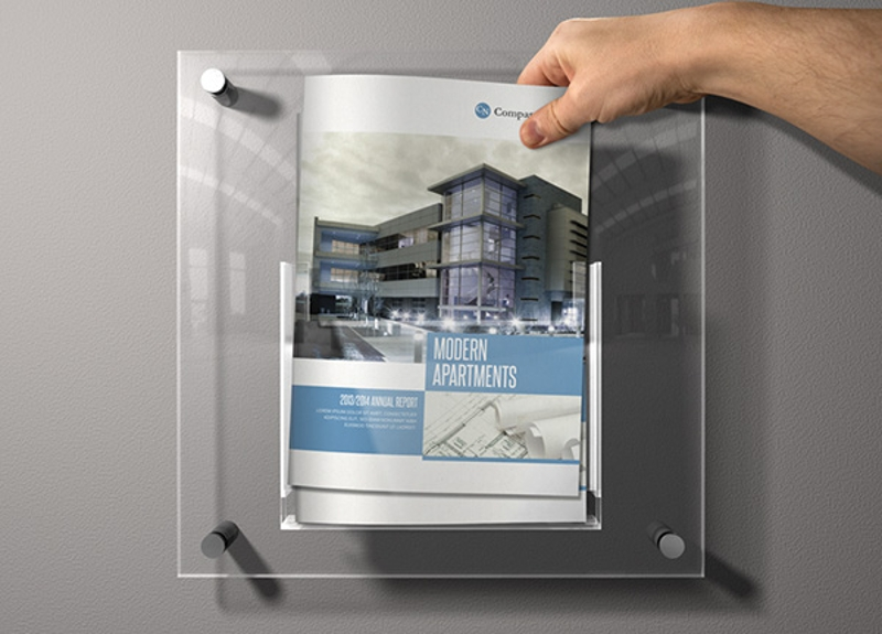 modern apartment template brochure