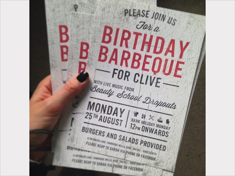 modern bbq birthday invitation