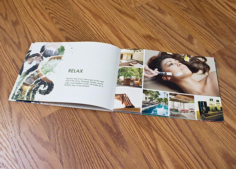 modern beach resort brochure