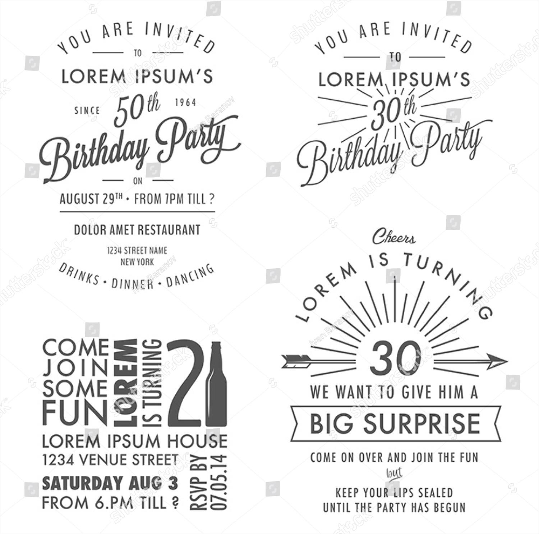 modern birthday party invitation1