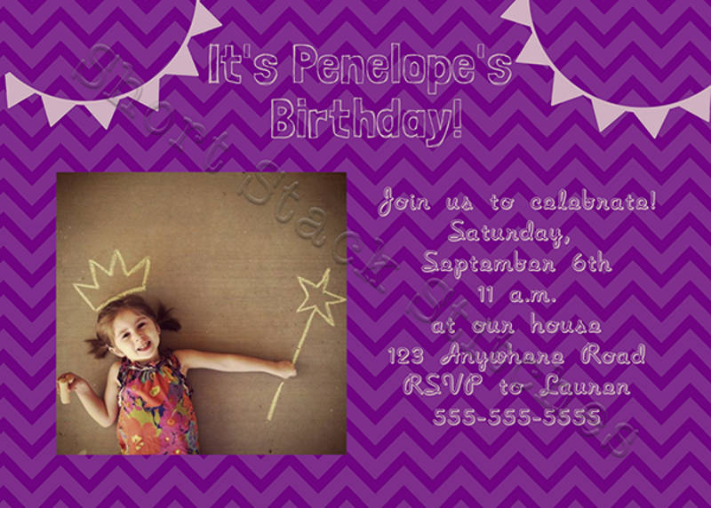 modern birthday party invitation2