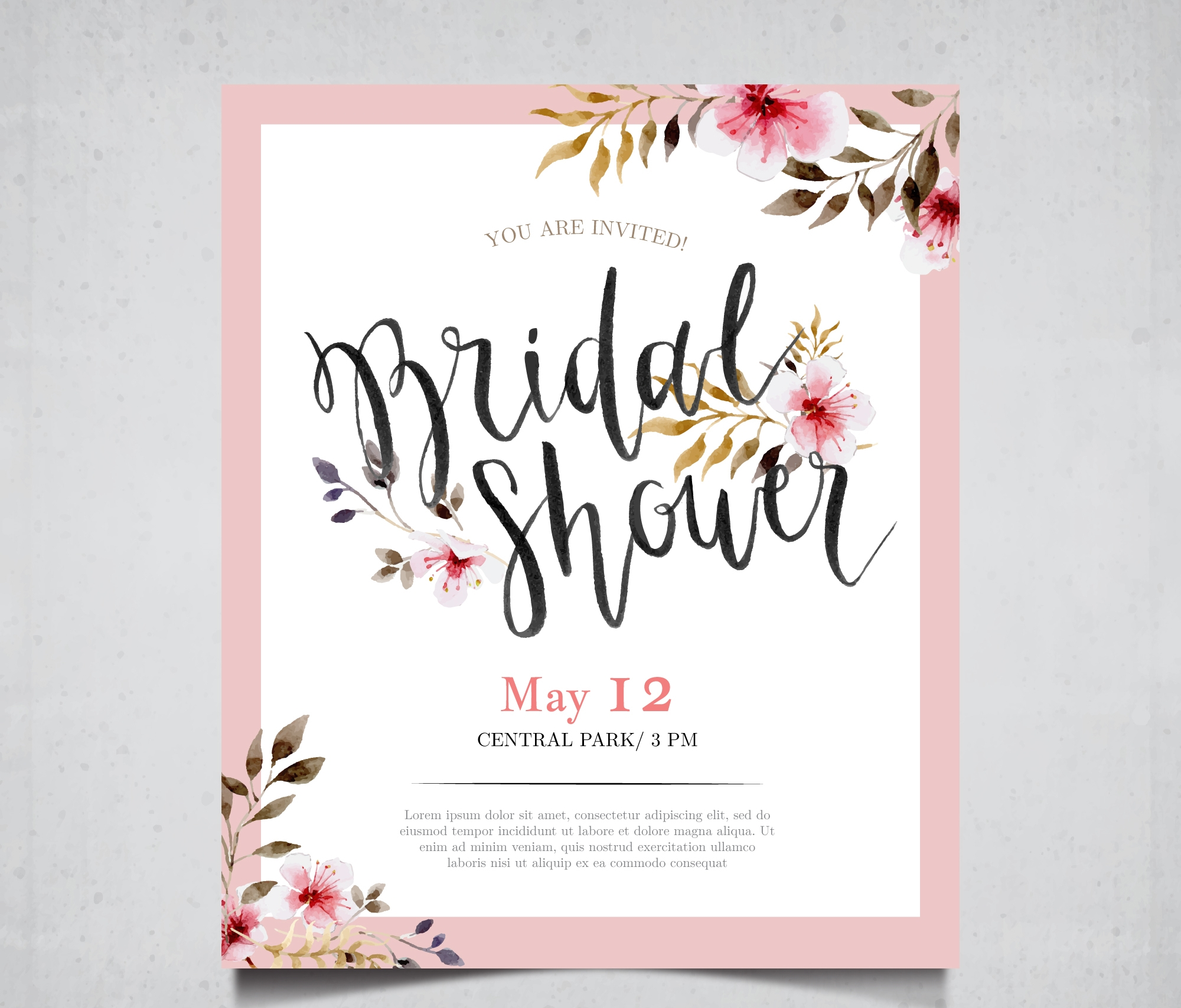 modern bridal party invitation