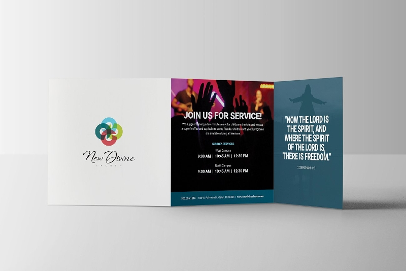 modern church brochure design