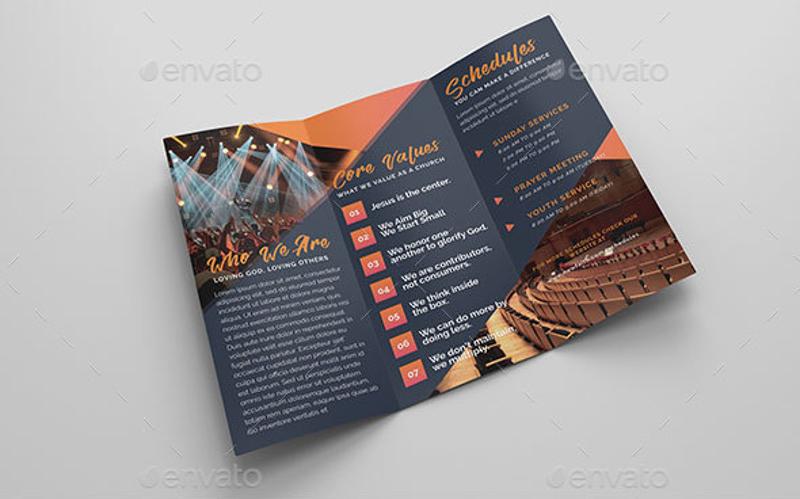 12  church brochure designs  u0026 examples