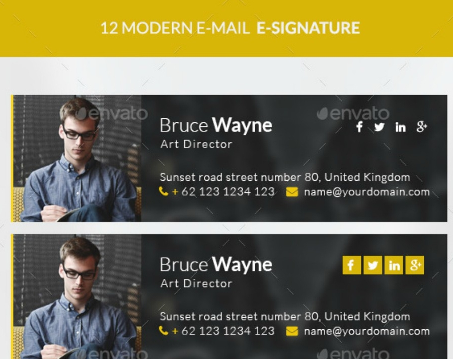 modern company e signature