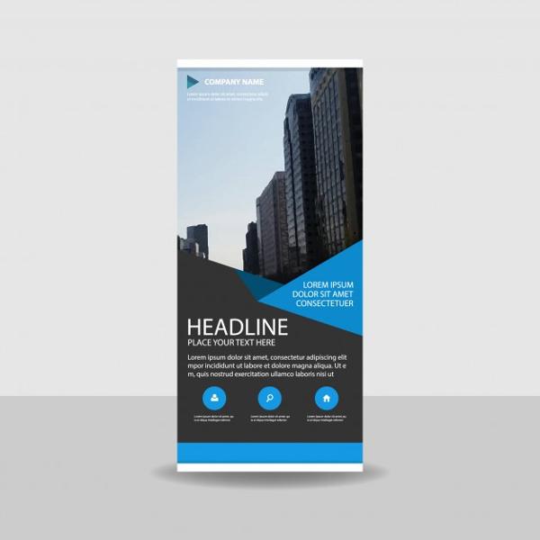 modern creative vertical rollup banner