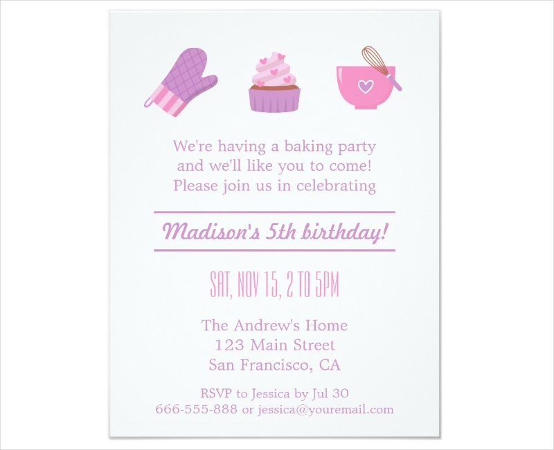15+ Cupcake Party Invitation Designs and Examples - PSD, AI