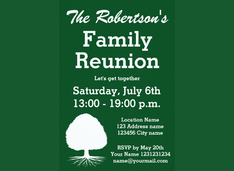 modern family reunion party invitation