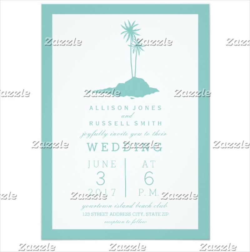 modern island beach wedding invitation1