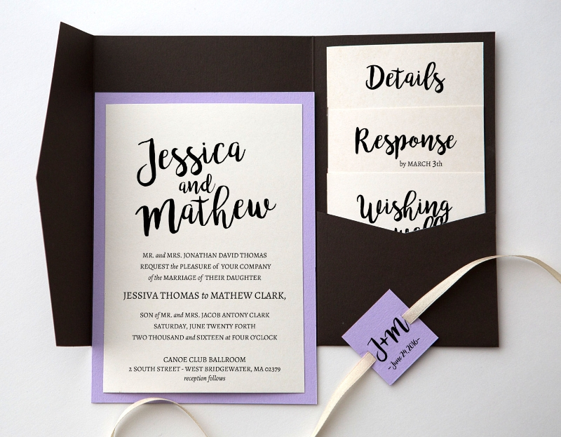 modern pocket invitation template