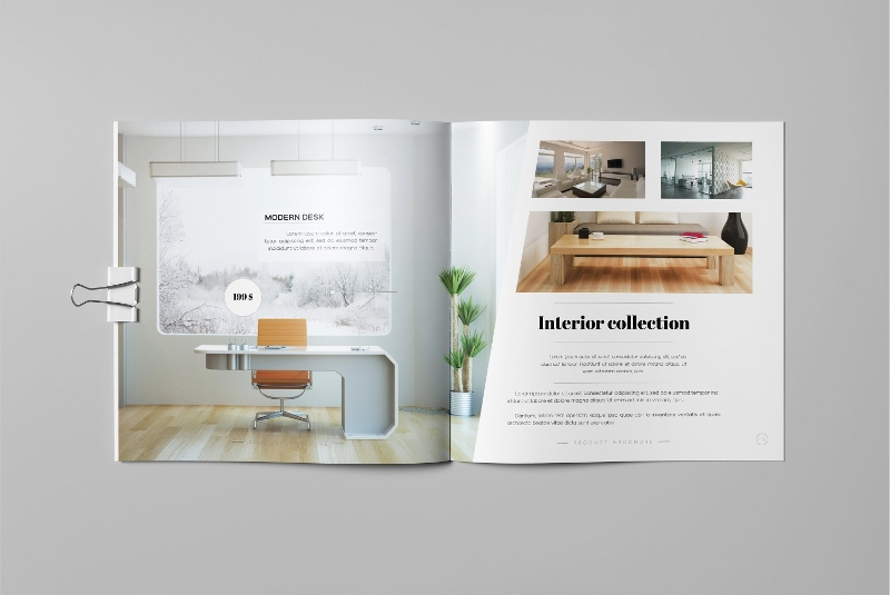 modern product brochure design