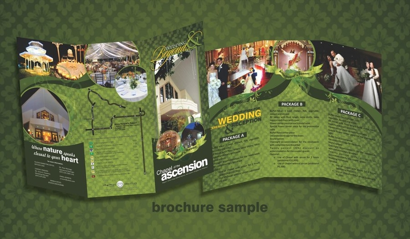 modern resort brochure