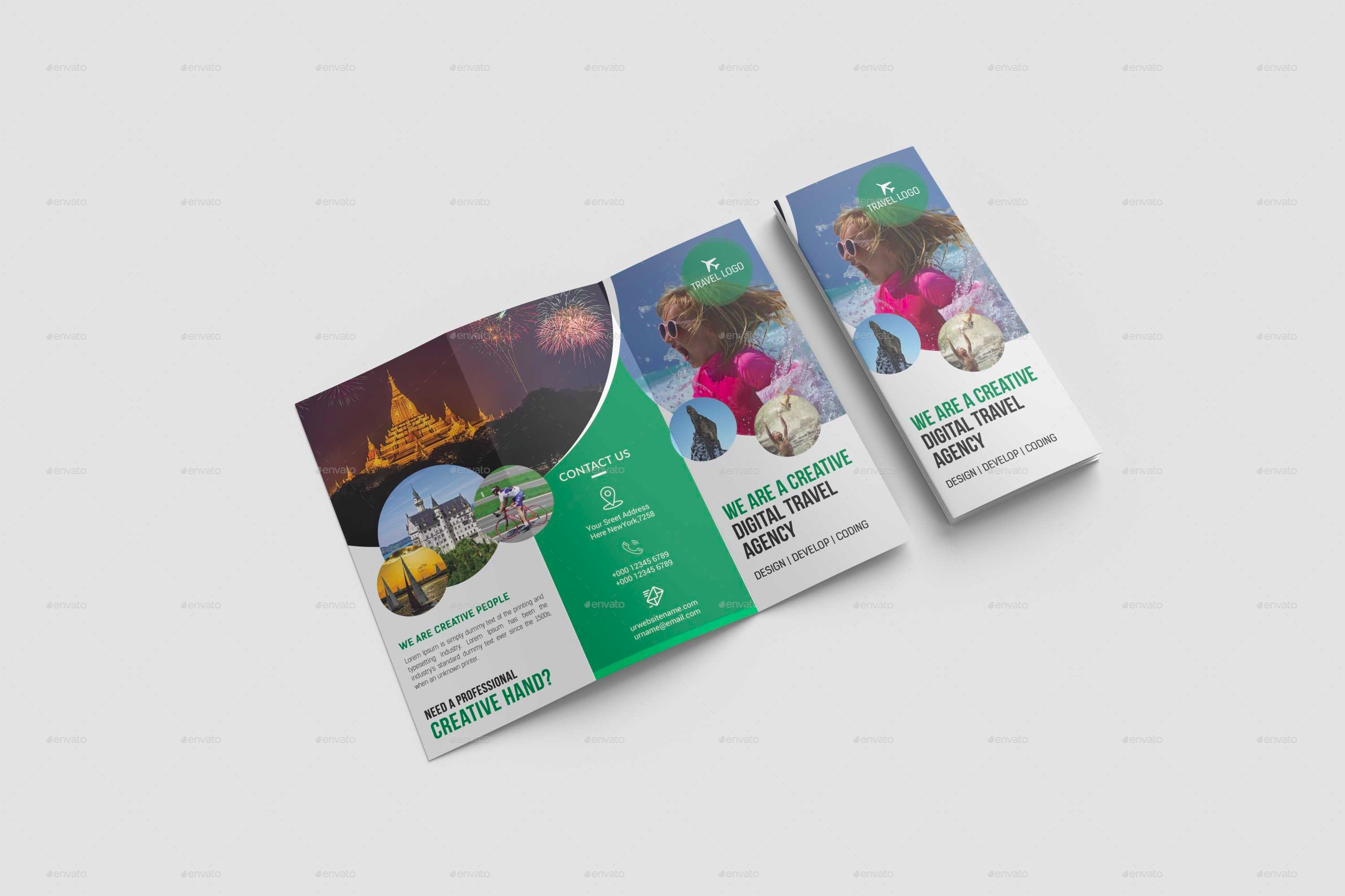 modern travel agency brochure