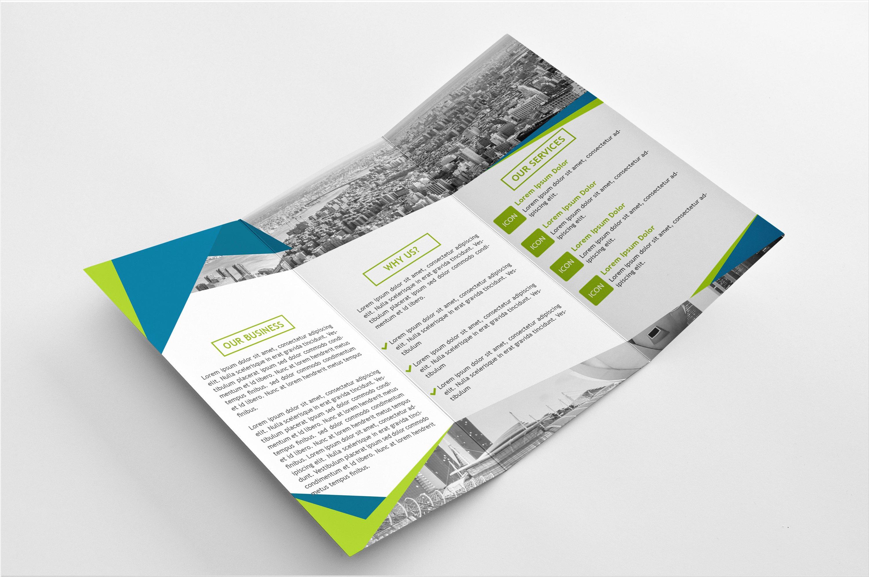 modern tri fold brochure
