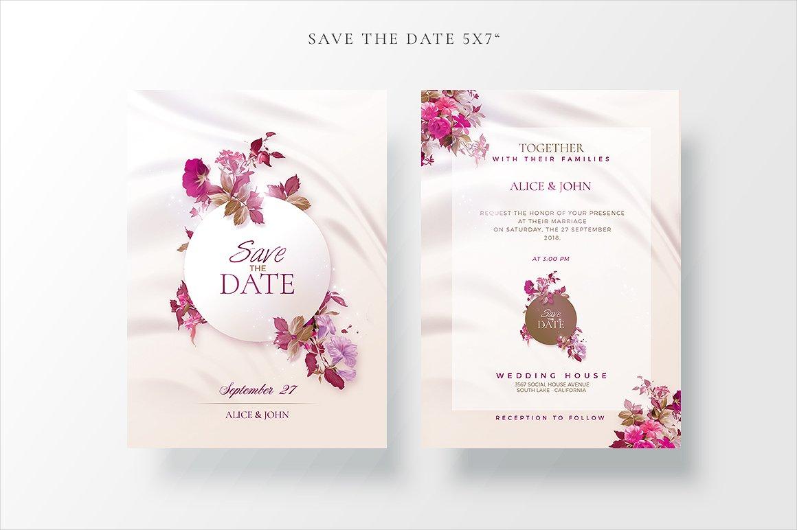 modern wedding ceremony invitation
