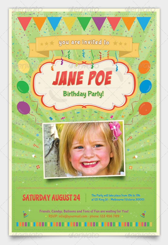 monster kids birthday party invitation