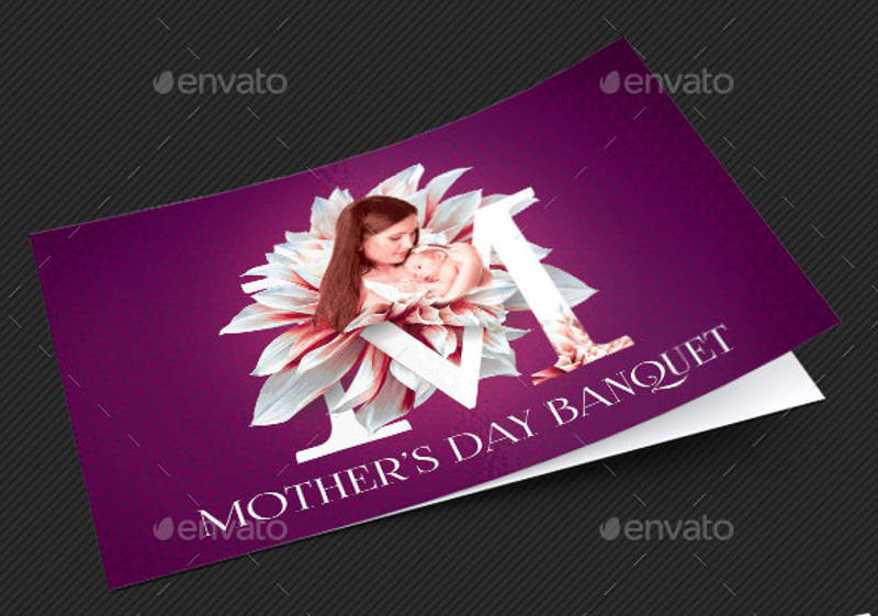 mothers day banquet invitation design