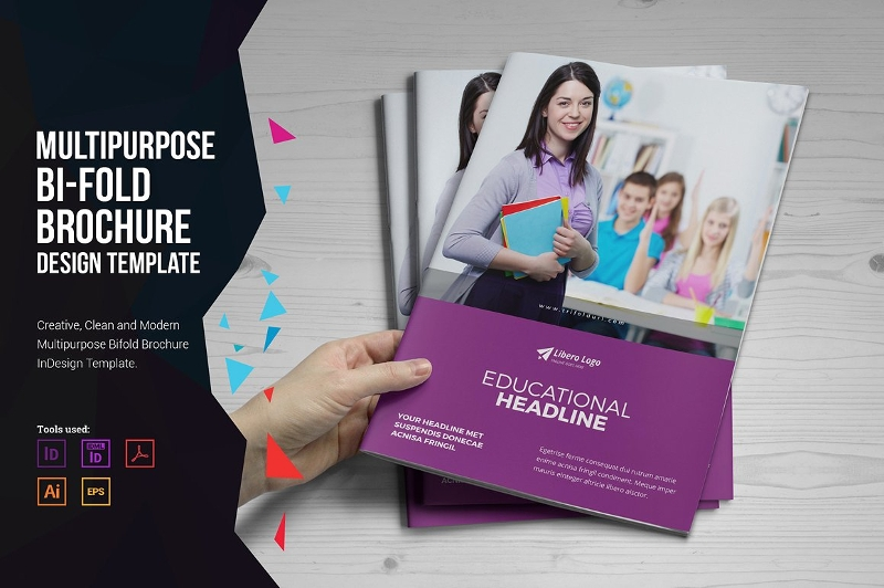 multipurpose bi fold brochure