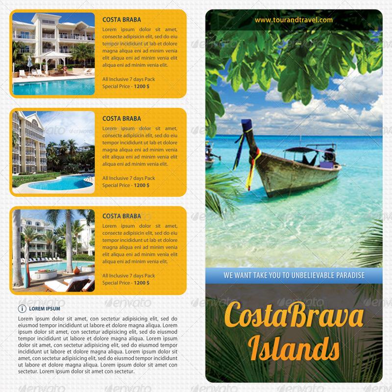 multiuse beach resort brochure